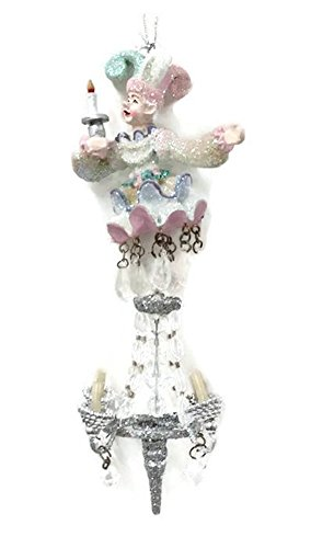 Jester Chandelier Ornament by Katherine's Collection 8 inches (Pink)