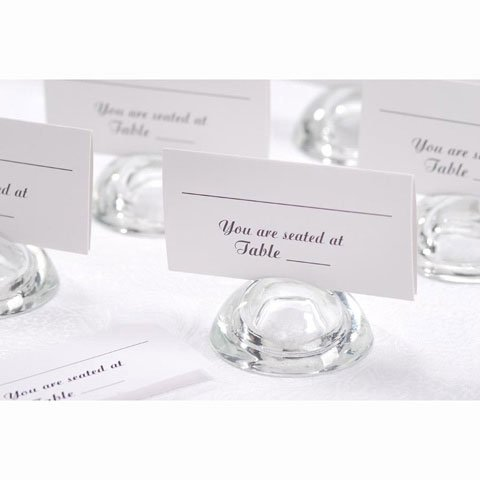 Discount Wedding Place Card Holders (Wedding White Seating Cards - 50 ct.)