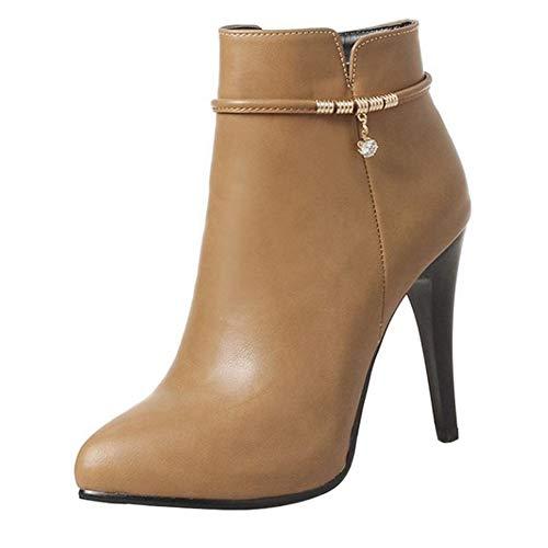Boots Women Ankle Sjjh Apricot Stiletto fvpW7vq8