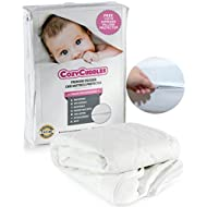 """PREMIUM Zippered Quilted WATERPROOF Crib Protector & Cover / ANTI-BEDBUGS Fully Encasement Standard Baby Crib & Toddler Bedding (52"""" x 28"""")"""
