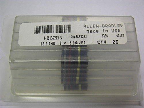 25 Allen Bradley RC42GF820J 82 Ohm 2W 5% Carbon Comp - 2w Resistors Carbon Comp