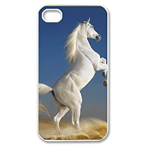 D-PAFD Customized Print Horse Pattern Back Case for iPhone 4/4S