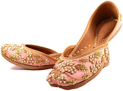 Indian Ethnic Jutti Pump Shoes Ballet Flats Embroidered