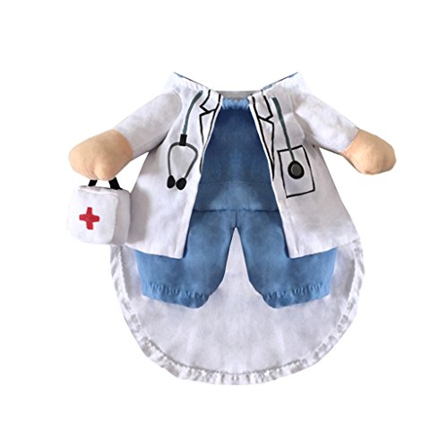 CLOVER Doctor Style Suit Fancy Dog Cat Puppy Costume Coat With Medicine Box Decorated - Small (Doctor Dog Costume)
