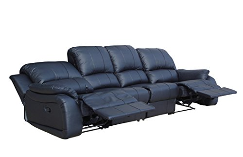 Voll-Leder Couch Sofa-Garnitur-Relaxsessel Fernsehsessel 5129-4-S