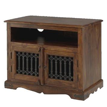 Jali Sheesham Square TV Cabinet - Indian Wood Furniture Amazon