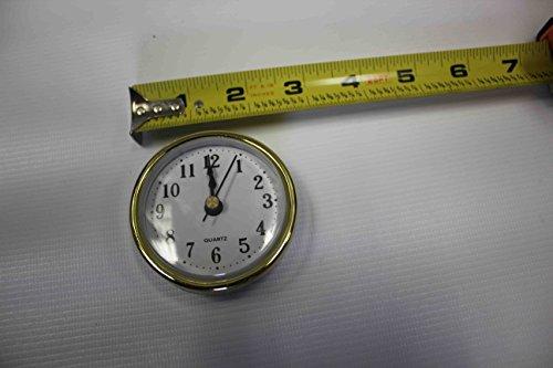 Gold Rim Quartz Clock Insert Arabic Numbers White Face Outside Diameter 64mm/ 2.5 in (Face Arabic Insert)