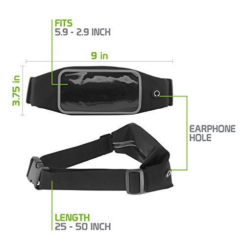 Cellet Cellphone Sweat Resistant Sports Armband, Storage Belt Armband Case for iPhone 6s, 6 Plus, 7, 7 Plus, 8, 8 Plus, X, Samsung S7, S8 Edge, Note 4, 5, 7, 8 and Other Smartphones by Cellet (Image #7)