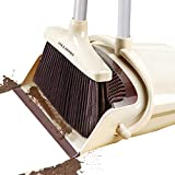 Broom and Dustpan Set Outdoor or Indoor Broom with Dust Pan 3 Foot Mop Angle Heavy Push Broom for Kids Garden Pet Dog Hair Wood Floors Sweeping Kitchen House (1)