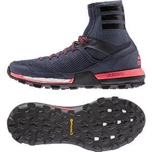 Adidas Outdoor 2015 Women's AdiZero XT Boost Trail Running Shoes - B23455 (Midnight Grey/Black/Flash Red - 10.5) Adidas Adizero Xt Trail Shoe