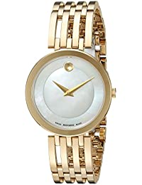 Womens Swiss Quartz and Stainless-Steel Casual Watch, Color:Gold-Toned (
