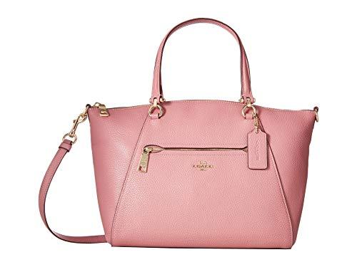 COACH Women's Pebbled Prairie Satchel Li/Rose One ()