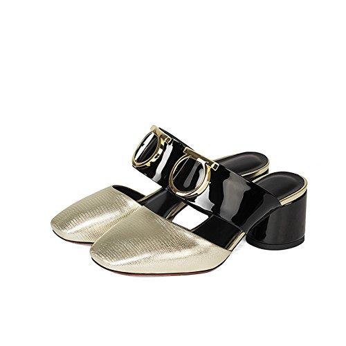 Sandalias de desgaste de moda de verano/Las mujeres con medias zapatillas de espesor y baotou A