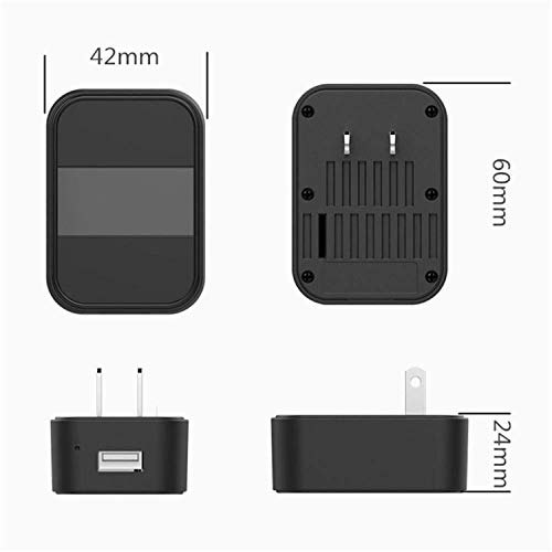 Hidden Camera HD 4K Non-Perforated USB Camera Super Night Vision Wireless  WiFi Spy Camera AC Adapter Type Camera Wide Angle 120 ° Move Detection