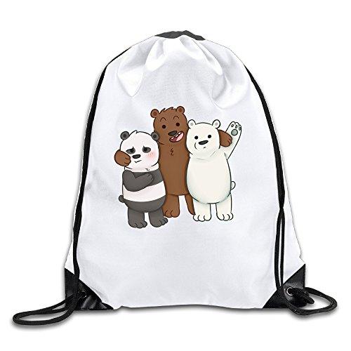 EDRE Men's&Women's Cute Bear Playful Cute Bear Drawstring Travel Bag (Cute Halloween Wallpaper Iphone)