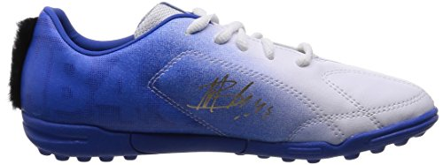 Puma MB 9 TT Jr - zapatillas de fútbol de material sintético Niños^Niñas blanco - Weiß (white-white-team power blue-team gold 01)