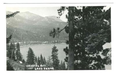 Crystal Bay Lake Tahoe Real Photo Postcard California Nevada