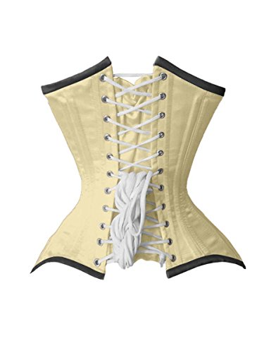 Luvsecretlingerie 26 Double Steel Boned Waist Training Satin Underbust Shaper Corset gtP3X