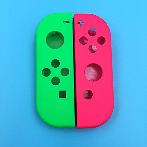 Nintendo Switch NS NX Joy-Con Controller Full Housing Faceplate Shell Case Cover Replacement Part(Green+Pink)
