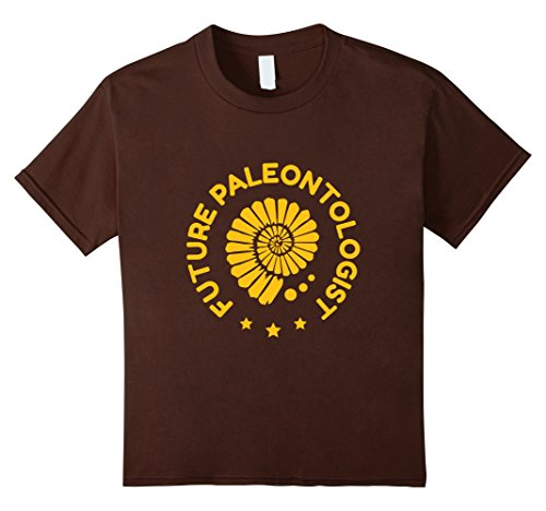 Kids FUNNY FUTURE PALEONTOLOGIST T-SHIRT Dinosaur Fossil Gift 8 Brown (The Today Show Halloween Costumes)