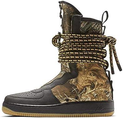 Amazon Com Nike Sf Air Force 1 Hi Black Gum Med Brown 11 D M Us Shoes