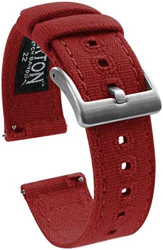 Barton Canvas Quick Release HorlogebandbandjesKies kleur en breedte18mm 19mm 20mm 21mm 22mm 23mm of 24mm