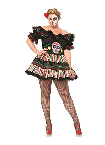 Day of The Dead Doll Adult Womens Plus Size Costume ()