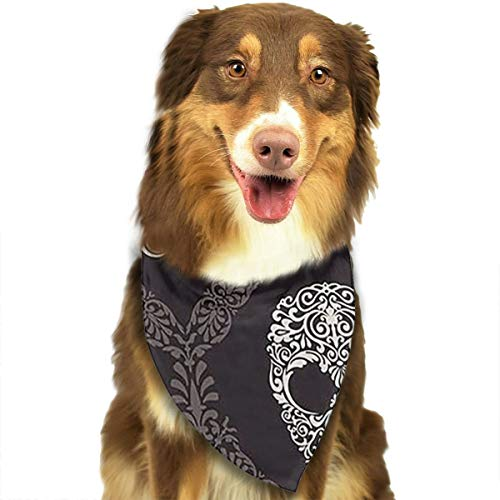 Dog Bandana Scarf Black Skull Mask Funny Novelty Classic Triangle Bibs Kerchief Set Accessories for Cats Pets Animals ()