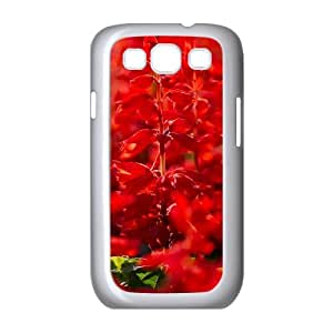 Dustin Red Salvia Cases for Samsung Galaxy S3, with White