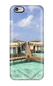 Rugged Skin Case Cover For Iphone 6 Plus- Eco-friendly Packaging(houses On Water)