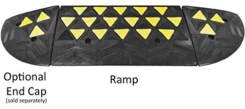 Electriduct Reflective 15 Ton Rubber Curb Ramp 30,000 lbs...