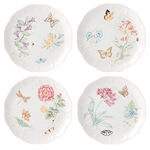 Lenox Butterfly Meadow Gold 4-Piece Dinner Plate Set, 6.35 LB, Multi