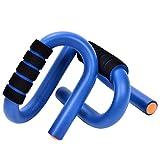 Gymforward S-Shape Push Up Stand Bars Strength Training Pull-Up Bars EVA Foam Padded Handle Grips
