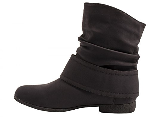 Elara - botas clásicas Mujer Schwarz New