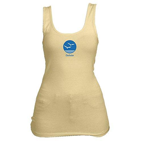 Charleston, South Carolina Seagull - Women's Tank Top (Small, Banana Cream) - South Sea Tank