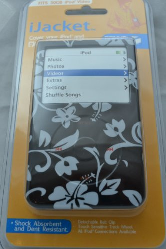 (Hibiscus-Apple iPod video 30GB Hard Case iJacket - Shock Absorbent Hard Protective Faceplate Cover + FREE iPod video Screen Protector Shield)