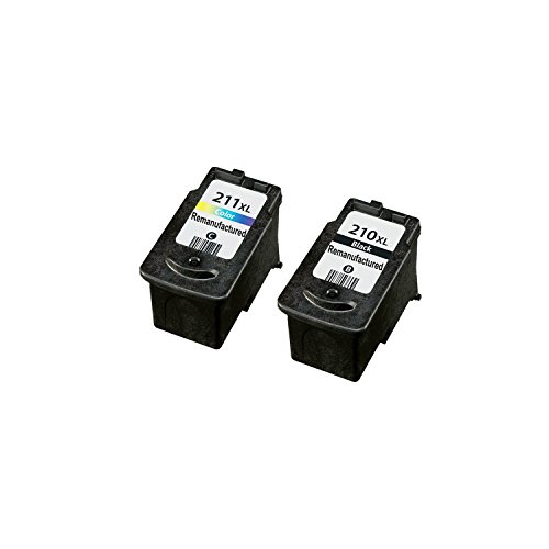 Compatible PG-210 XL CL-211 XL Ink Cartridges-1 Blk /1 Clr for Canon