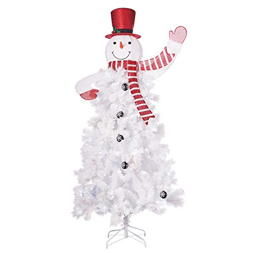 Holiday Time 6.5ft Snowman Artificial Christmas Tree - White