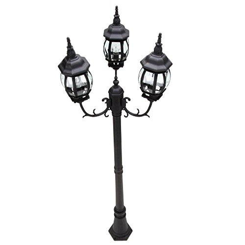 Three Light Outdoor Post Lamp in Florida - 2