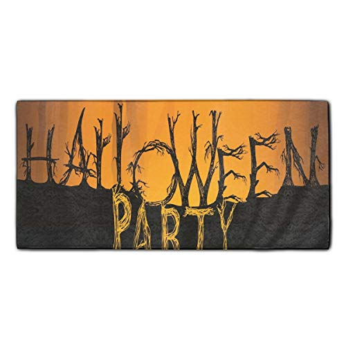 Halloween Party Dish Towels, 11.8 × 27.5 Inches, Heavy Duty Kitchen Bar Towel for Drying & Cleaning