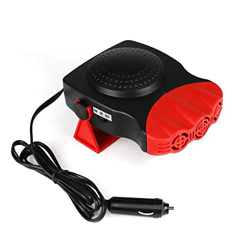 Portable car heater, defroster, defogger, 12V 150W automotive ceramic 30 seconds fast heating, with 3 car vehicle sockets ()