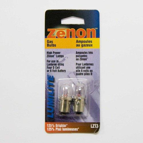 Lumilite LZ13 Xenon 4.8V 0.9A Gas Flange Base Bulb for 6-Volt/4D Cell Flashlight, 2-Pack (4d Cell Flashlight)