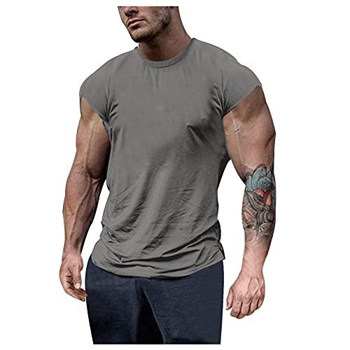 Heren T-shirt zomer korte mouwen bovenstuk basic ronde hals slim fit T-shirt casual effen korte mouwen tops