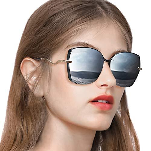 PdnIds Oversized Sunglasses for Women Polarized-Big Square Womens Sunglasses UV ()