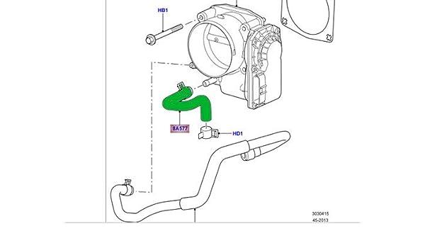 GENUINE LAND ROVER THROTTLE BODY HOSE LR3 V8 SPORT 4.4 V8 05-09 OEM NEW 4726525