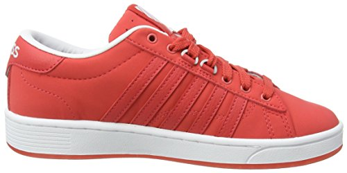 Swiss Rouge Basses White Red CMF Hoke Cayenne K Snb Baskets Femme fwOO7x