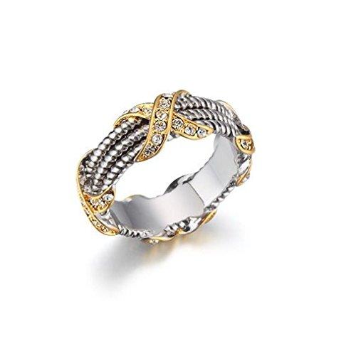 "HamptonGems Designer Inspired-Pave Crystal ""X"