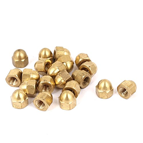 Uxcell a16032200ux1049 M4 Thread Dome Head Brass Cap Acorn Hex Nuts