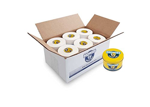 Howies Hockey Tape - White Cloth Hockey Tape (30 pack) and FREE Tape Tin