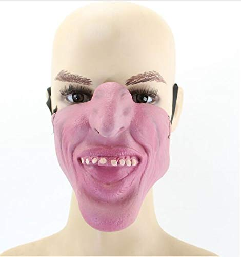 e beauty Funny Scary Half Face Clown Joker Latex Masks Cosplay Costume/Halloween Party masques (GY-06) ()